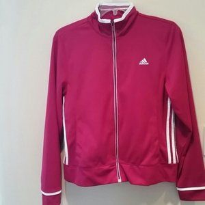 Adidas Red Long Sleeve Track Jacket EUC sz L